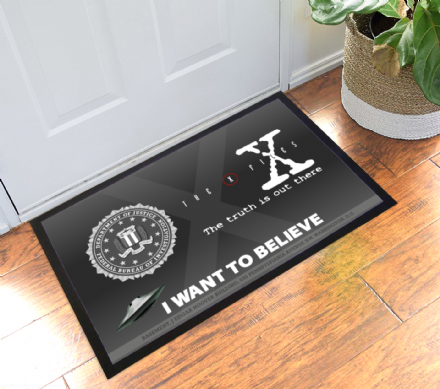 X-files Basement Office Doormat FBI Welcome Mat